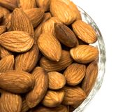 Many almonds nuts Stock Image