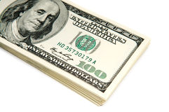 Many american dollar bills Stock Images