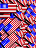Many American Flags 4. A background made out of many American flags Royalty Free Stock Photography