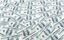 many american hundred dollar bills Stock Photos