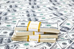 many american hundred dollar bills Royalty Free Stock Photography