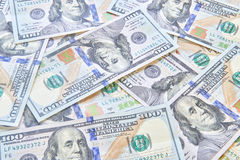 Many American One Hundred Dollar Bills Stock Images