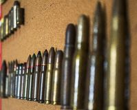 Many ammunition bullets pattern background vector illustration