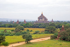 Many ancient pagodas in the landscape from Bagan Myanmar Stock Photos