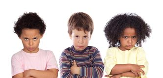 Many angry children Stock Photo
