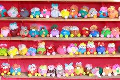 Many animal dolls royalty free stock photo
