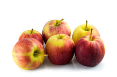 Many apples isolated with white background Stock Image