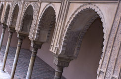 Many arches. Decorated arches in the Alhambra Palace (in Granada, Spain Stock Photography