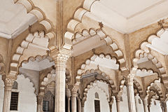 Many Arches Inside Red Fort Stock Image