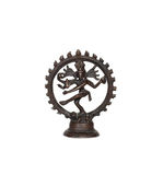 Many-armed Siva. Bronze figure of Indian Hindu god Shiva Nataraja - Lord of Dance isolated on white Royalty Free Stock Photo