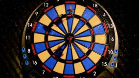 Many arrows dart view stock footage
