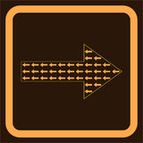 Many arrows inside the big arrow. Directed in opposite direction Royalty Free Illustration