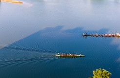Dragon boat races. In many Asian countries, dragon boat races are held during festivals. China is one of them. Many people are involved in this folk activity Stock Photo