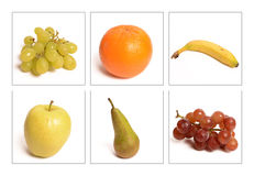 Many Assorted Whole Fruits Stock Photos