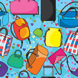 Many Bags Love seamless Pattern_eps Stock Photos
