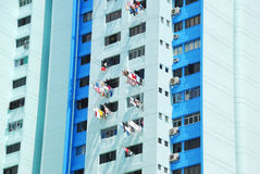 Many balconies of a building. Singapore Royalty Free Stock Images
