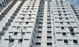 Many balconies of a building. Singapore Stock Images