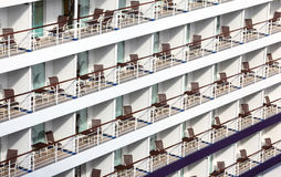 Many balconies on ship Stock Image