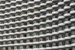 Many balcony. Pattern of balcony on building Stock Images