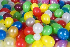 Many balloons. Baloon background Stock Images