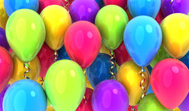 Many balloons background Royalty Free Stock Image