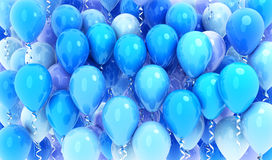 Many balloons blue background Royalty Free Stock Photography
