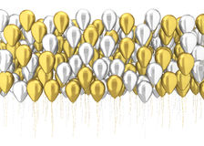 Many balloons Royalty Free Stock Image