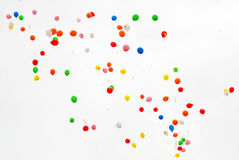 Many balloons fly Royalty Free Stock Images