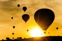 Many balloons at  sky background Stock Photos
