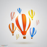 Many balloons. Vector Royalty Free Stock Images