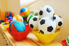 Many balls in a kindergarten Royalty Free Stock Photo