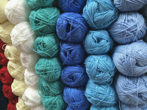 Many balls of wool Stock Images