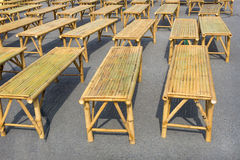 Many bamboo chairs Royalty Free Stock Images