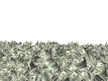Many banknotes of dollars Stock Image