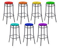 Free Many Bar Chairs In Colors Of Rainbow, Collage Stock Photography - 12540182