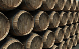 Many barrels Royalty Free Stock Photography