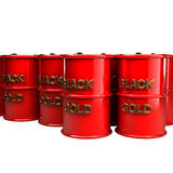 Many barrels of oil 3d Royalty Free Stock Photography