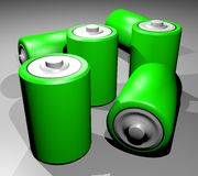 Many batteries Royalty Free Stock Images