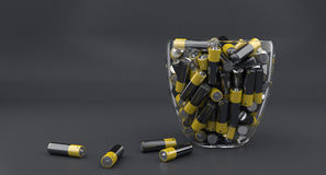 The many batteries Stock Images
