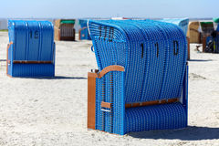 Many beach chairs Royalty Free Stock Image