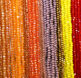 Many beaded necklaces for sale Stock Photography
