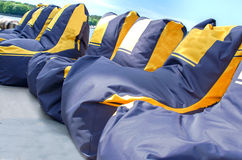 Many beanbag seats royalty free stock images