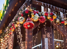 Many beautiful Christmas decorations Royalty Free Stock Image