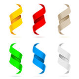 Many beautiful colored ribbons Stock Image