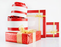 Many Beautiful Gift Boxes Royalty Free Stock Images