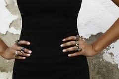 Many beautiful rings Royalty Free Stock Photos