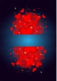 Many beautiful valentine's hearts Stock Photography