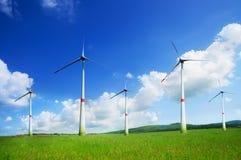 Many beautiful wind turbine Stock Photo