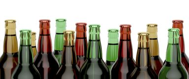 Many beer bottles Royalty Free Stock Photos