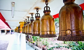 Many bell. In temple Thailand Stock Photo